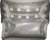 Silver Sparkles PUL  Waterproof Cloth Diaper Cover