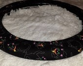 Last One! * Cool Black Cat * Halloween Steering Wheel Cover * Glow Highlights * Click To See!