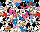 Disney licensed knit Mickey and friends 1/2 yard cotton spandex jersey