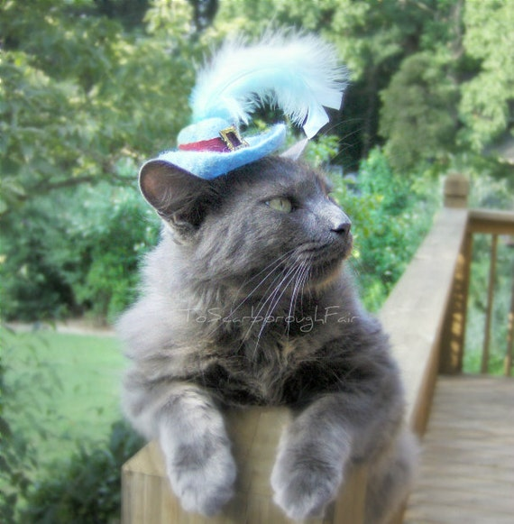 Puss in Boots Pet Hat - Wool Hand Felted Cat Costume - Cat Photo Prop - Cat Costume - Pet Halloween Costume
