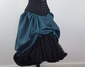 Deep Teal Full Length Bustle Skirt-One Size Fits All