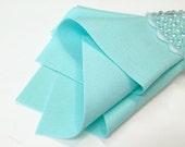 Wool Felt Fabric, Bubbles, 100% Merino, DIY Felt Crafts, Wool Applique, Pale Blue-Green, Celeste, Aqua, DIY Supply
