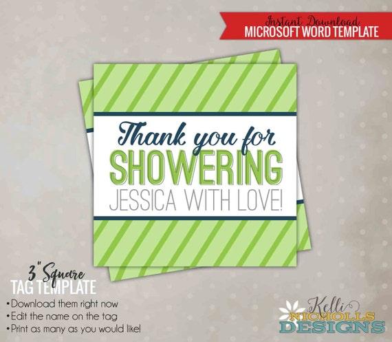 Wedding Shower Favor Tag Template : Bridal Shower Favor Tag Template, Modern Tag, DIY Bridal Shower Favors ...