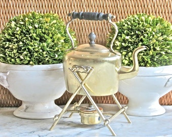 Antique Lovely Brass Spirit Kettle........Souter And Son England