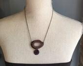 Lavender/gray necklace