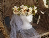 Fairy Crown Head Wreath Cream and Wine
