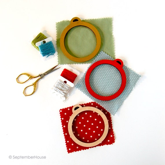 Embroidery frame for christmas ornaments diy wood