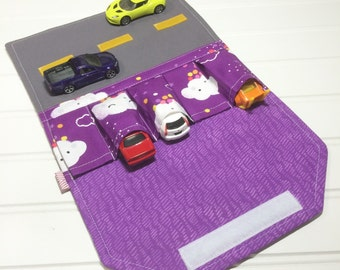 Clouds Car wallet, Gift for kids, Car Carrier, Hot wheels Car holder, Fold up play mat, Car Organizer, Hot wheels birthday, Toy car mat