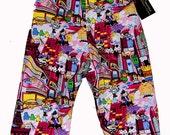 Harajuku Clothing - Japanese Anime - Hello Tokyo - New York - Punk Baby - Pink Baby Pants - Girl Pants - Toddler Pants - 12m - 18m - 2T