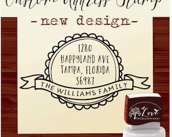 Custom Personalized  SELF INKING Return Address Rubber Stamp - STYLE 1101 cute wedding gift