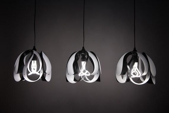 Three 3 DROP Pendant Light White Amp Black