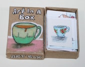 Art In A Box..tiny watercolor paintings.