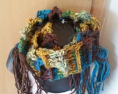 Crochet Chunky Ladder Scarf