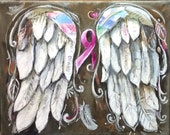 Angel Wings print of my original Painting Wings of Hope  for Breast Cancer