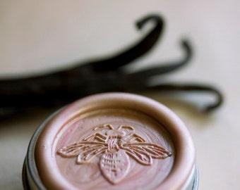 Lyra Natural Solid Perfume Bee Tin - Jasmine and Ylang Ylang Combine with Vanilla and Amber Fragrance Notes - Sweet and feminine - Botanical