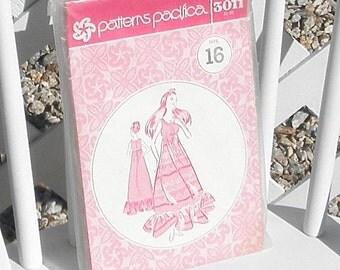 Patterns Pacifica Muumuu Sewing Pattern Women Size 16 Vintage Uncut Long Dress Sewing Pattern 3011