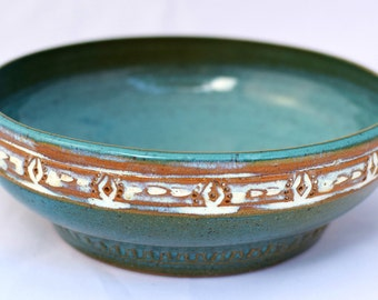 Turquoise Mini Casserole Dish / Brie Baker - Ceramic Stoneware Pottery
