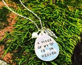 Remembrance necklace, hand stamped message charm necklace, infant loss, memorial jewelry,sterling silver, phrase charm, quote, briguysgirls