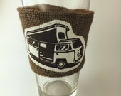 VW Camper Coffee/Beer Cozy with Gift Card Holder Option