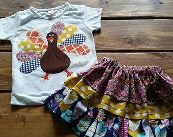 Thanksgiving Shirt for Girls, Turkey Shirt, Thanksgiving Outfit, Friendsgiving Shirt, Thanksgiving Day, Baby Girl Clothing, Girls Fall Shirt
