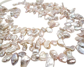 Keishi Pearls Freshwater Cornflake, Keshi Pearls, SKU 4691