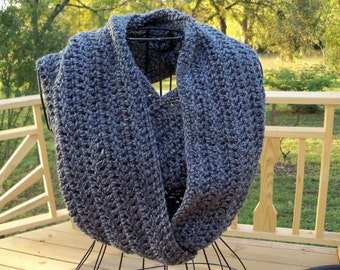 Sale Infinity Scarf Neck Warmer Crocheted Cowl Womens Accessories