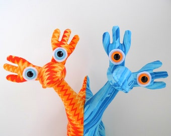 Two Headed Monster, Two Headed Alien, Conjoined Twins, Siamese Twins, Alien Toy by Adopt an Alien named Spick and Spack