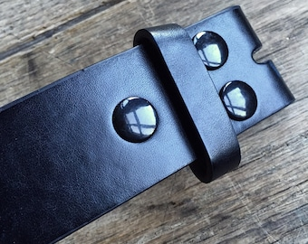 leather belt strap black brown works with belt buckle