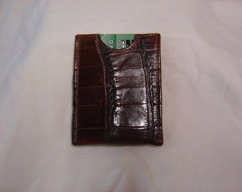Sport  Wallet with magnet money clip made of genuine Alligator