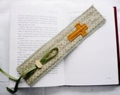 Bookmark...Gift for Book Lovers...Bible Bookmark...Hand Made with Fabric