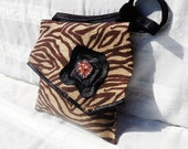 Handbag...Purse...Cross Body Messenger Bag...Shoulder Bag...Purse/Tote...Zebra/Animal Print Purse...Wearable Art