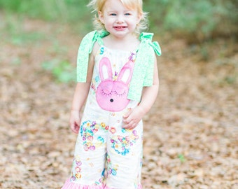 Kawaii Baby - Baby Easter Outfit - Ruffle Pants Outfit - Toddler Outfit - Easter Bunny - Ruffle Pants for Girls - Sizes 6 months to 8 years
