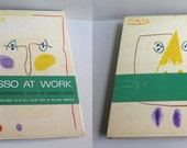 Picasso At Work Edward Quinn Hardcover 1966 Doubleday Book Coffee Table Art Book, Big Picasso Retrospective Book