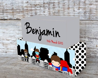 Personalized Wooden Name Blocks Custom Made Super Hero