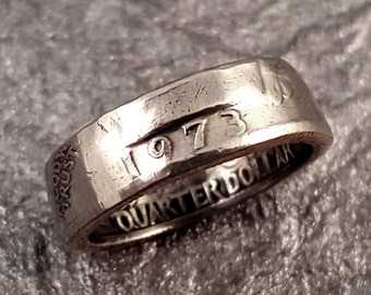 1973 Coin Ring YOUR SIZE 5 to 10.5 Year Quarter MR0705-TYR1973