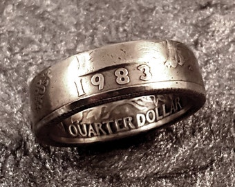 1983 Coin Ring YOUR SIZE Quarter MR0705-Tyr1983