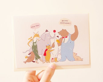 Animals Birthday Card (Set of 2)