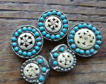 Vintage Southwestern Button Cover