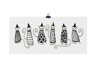 Limited Edition Cosy Cats Screenprint