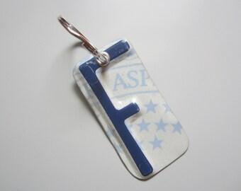 F License Tag Keychain
