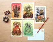 Spooky Series - 5 Postcard Pack