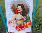 SENORITA Clementina Ruffled Mexican Kitchen TOWEL CUSTOM