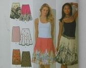 Misses Slim Full and Half Circle Skirt Pattern Simplicity 4236 Size 6 8 10 12 14 Waist 23 24 25 26 1/2 28 UNCUT
