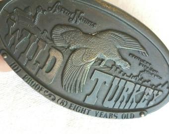 1970s Wild Turkey Brass Belt Buckle