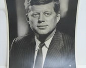 Vintage JFK kennedy Fabian Bachrach Large 11 x 14 Photo Photograph Heavy Stock Paper John Jack Kennedy