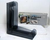 Vintage LP Record Holder Hartzell Smokey Translucent Folding Vinyl Record Rack in Original Box Space Age Mid Century
