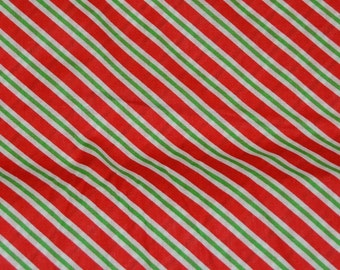 Christmas Candy Cane Fabric/Material by the yard