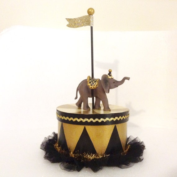 gold elephant wedding cake topper black and gold elephant box gift box centerpiece cake 14752