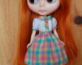 Blythe colorful checker dress