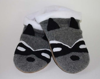 Raccoon Sweater Slippers - Made to Order